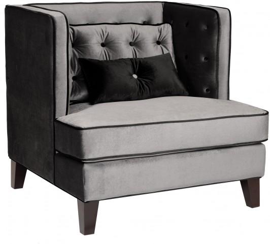 Moulin Gray Velvet Chair