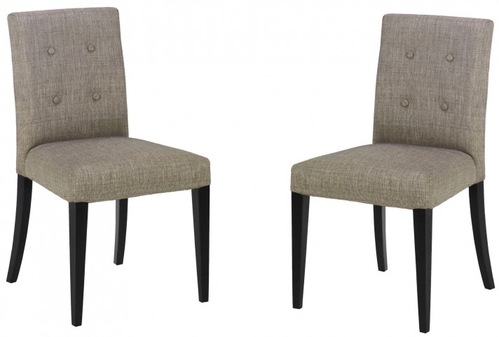 Wall St. Gray Fabric Side Chair Set of 2