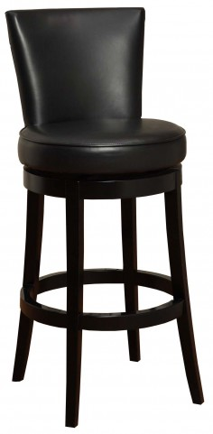 "Boston 26"" Black Bonded Leather Swivel Barstool"