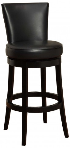"Boston 30"" Black Bonded Leather Swivel Barstool"