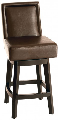 "Wayne 26"" Brown Bonded Leather Swivel Barstool"