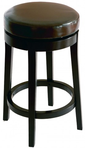 """Mbs-450 30"""" Brown Bonded Leather Backless Swivel Barstool"""
