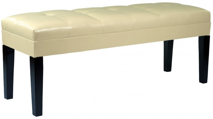 Howard Cream Bonded Leather Bench