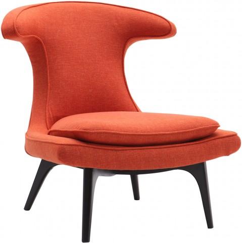 Aria Orange Fabric Chair