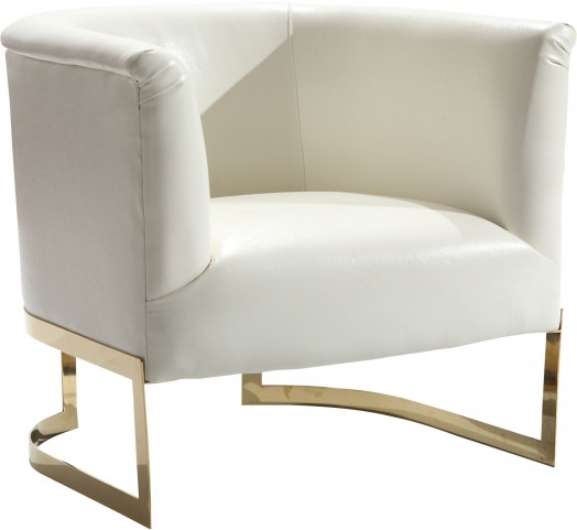 Elite White Accent Chair