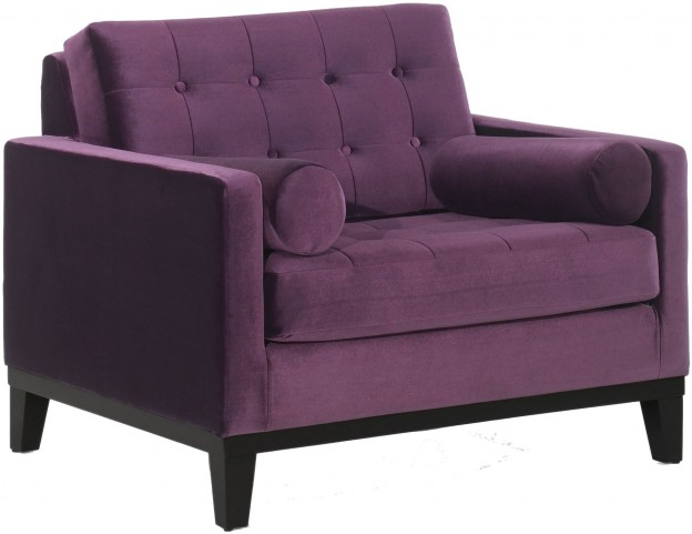 Centennial Purple Velvet Chair