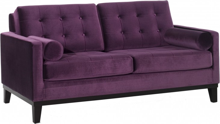 Centennial Purple Velvet Loveseat