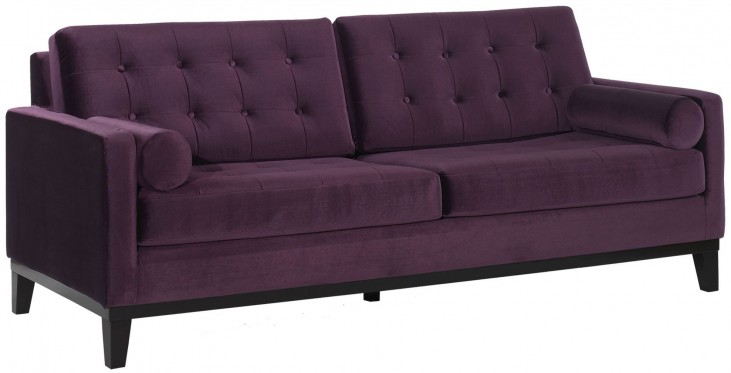 Centennial Purple Velvet Sofa