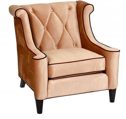 Barrister Caramel Velvet Chair