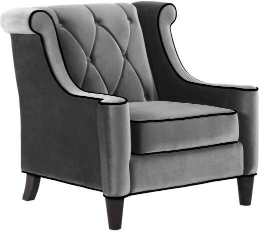 Barrister Gray Velvet Chair
