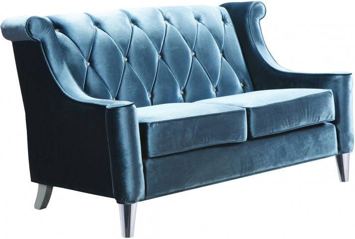 Barrister Blue Velvet Loveseat