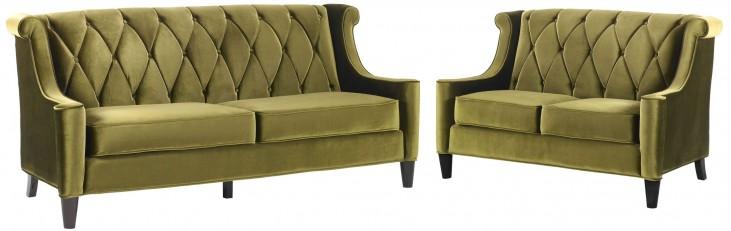 Barrister Green Velvet Living Room Set