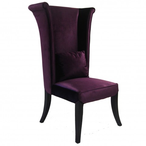 Mad Hatter Purple Rich Velvet Dining Chair