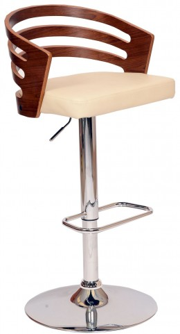 Adele Cream Swivel Barstool