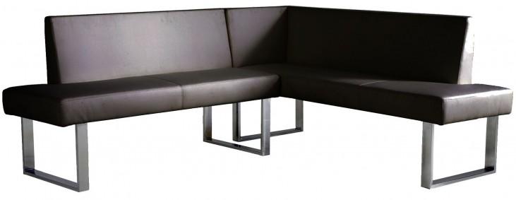 Amanda Black Corner Sofa