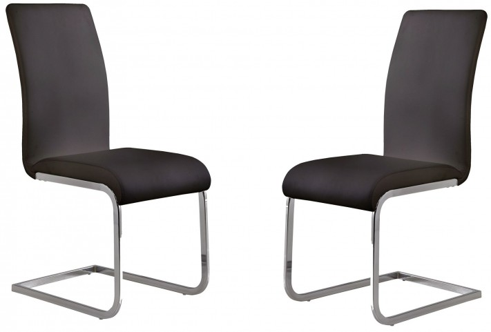 Amanda Black Side Chair Set of 2
