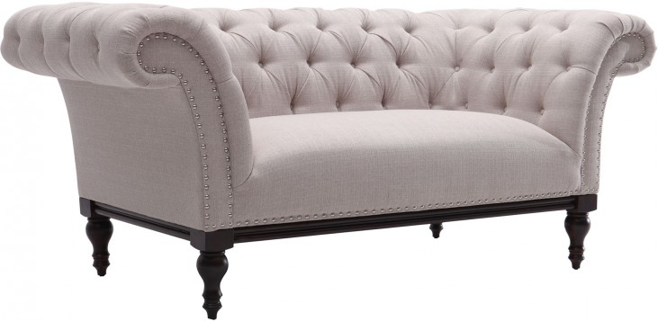 Avery Sand Fabric Loveseat