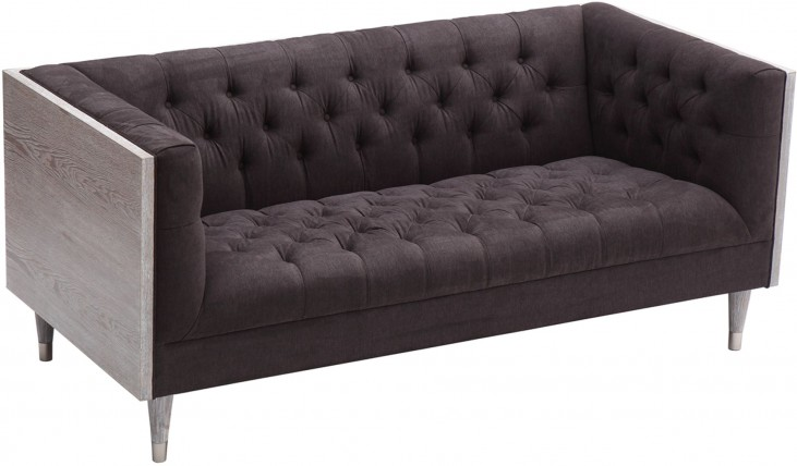 Bellagio Charcoal Fabric Loveseat