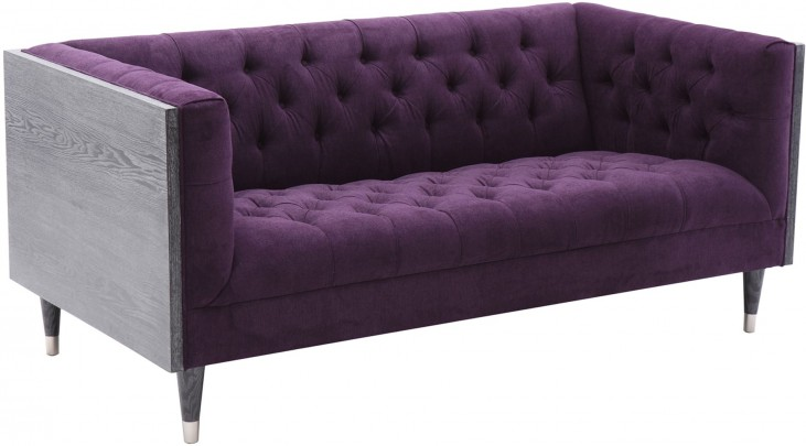 Bellagio Purple Fabric Loveseat