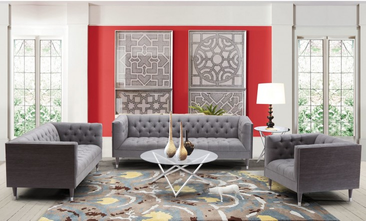 Bellagio Mist Fabric Living Room Set