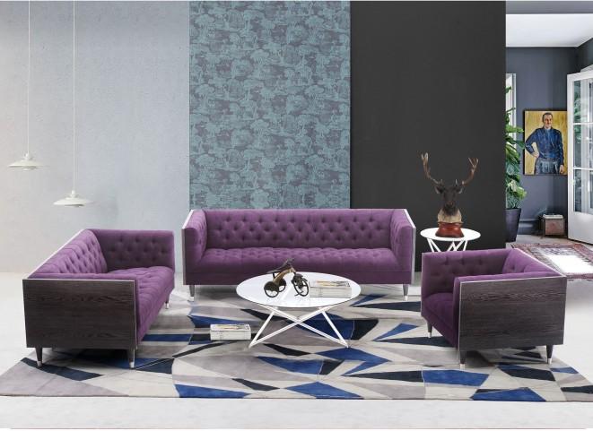 Bellagio Purple Fabric Living Room Set