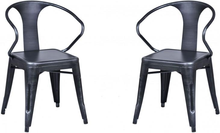 Berkley Grey Arm Chair Set of 2