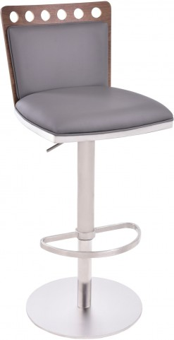Brooke Grey Adjustable Barstool
