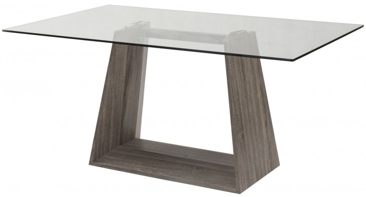 Bravo Clear Glass Dining Table