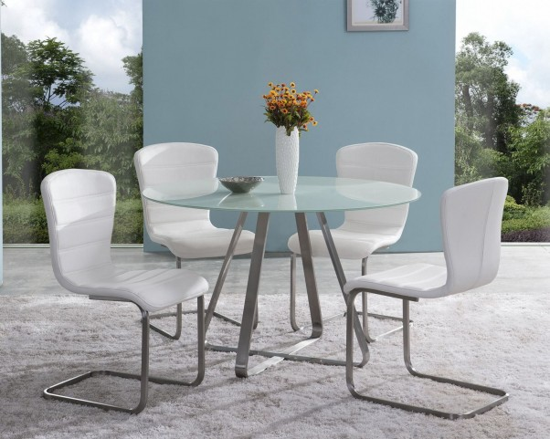 Cameo Painted Glass Dining Room Set
