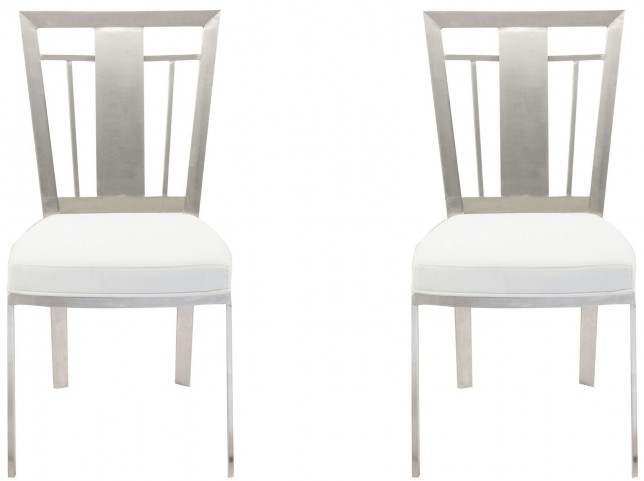 Cleo White Dining Chair Set of 2