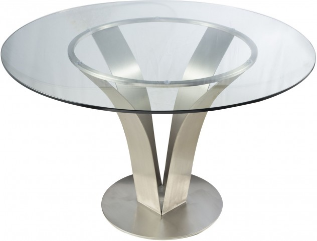 Cleo Clear Glass Dining Table