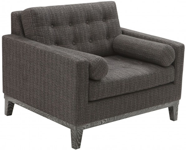 Centennial Charcoal Chenille Fabric Chair