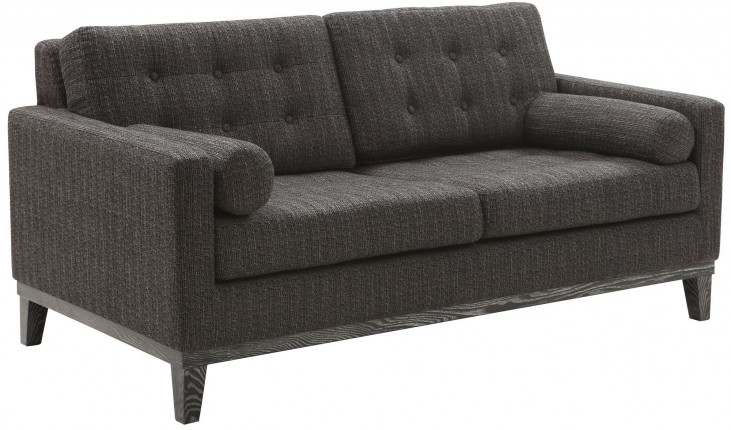 Centennial Charcoal Chenille Fabric Loveseat