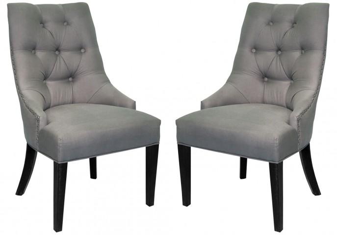 Centennial Linen Fabric Dining Chair Set of 2