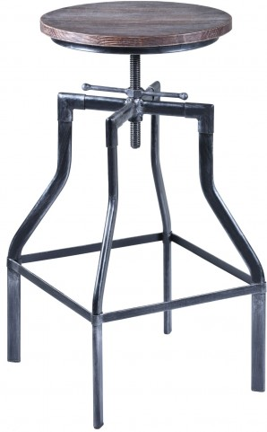 Concord Grey Adjustable Industrial Barstool