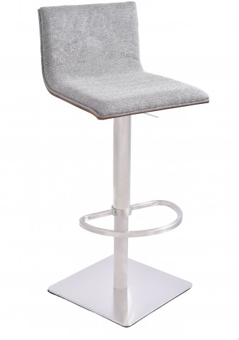 Crystal Brushed Steel Barstool
