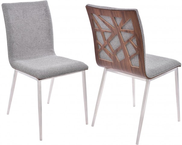 Crystal Grey Dining Chair Set of 2