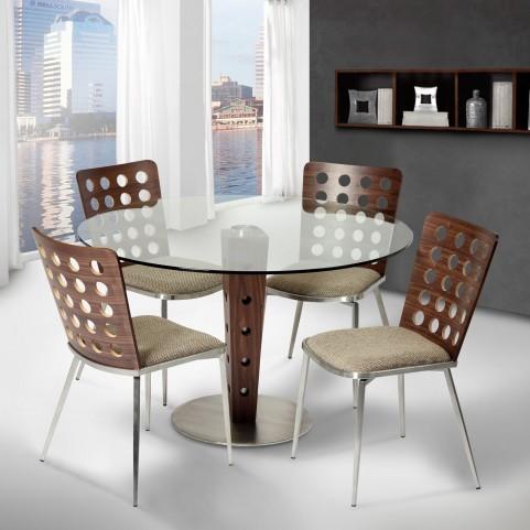 Elton Glass Top Dining Room Set