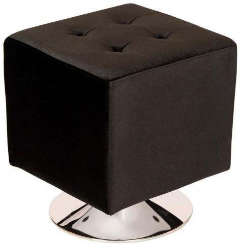 Pica Black Square Swivel Ottoman