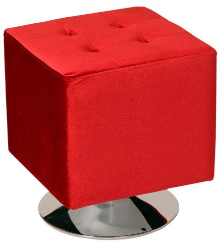 Pica Red Square Swivel Ottoman