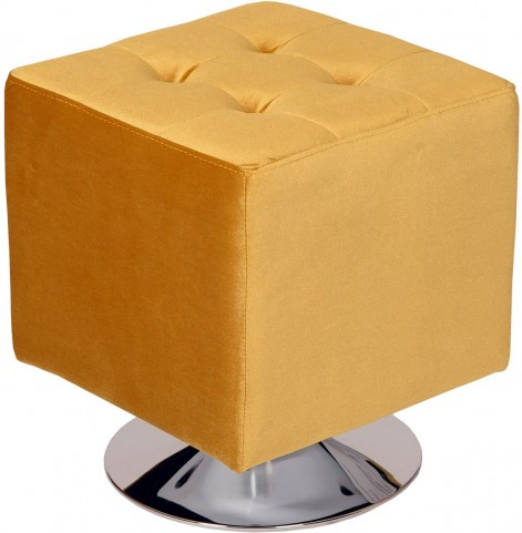 Pica Yellow Square Swivel Ottoman