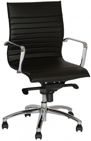 Hannah Contemporary Black and Chrome Office Chair