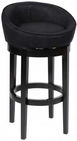 "Igloo 26"" Black Microfiber Swivel Barstool"