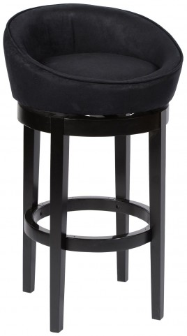 "Igloo 30"" Black Microfiber Swivel Barstool"