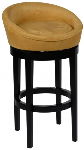 "Igloo 26"" Yellow Microfiber Swivel Barstool"