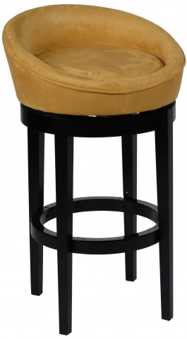 "Igloo 30"" Yellow Microfiber Swivel Barstool"