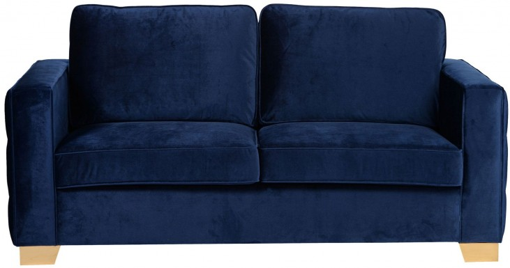 Isola Blue Velvet Loveseat