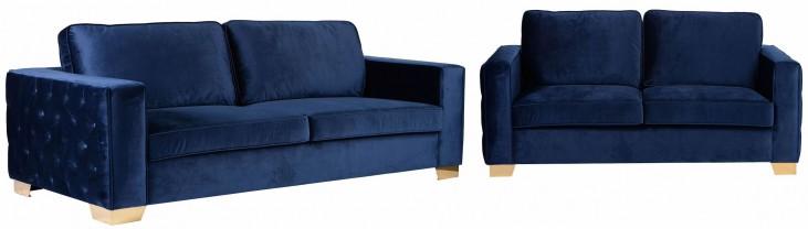 Isola Blue Velvet Living Room Set