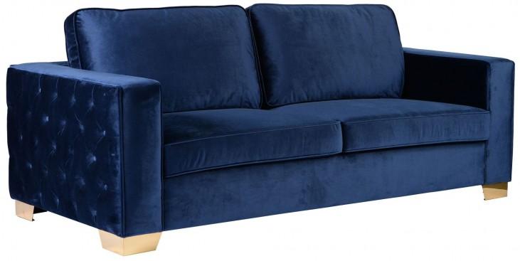 Isola Blue Velvet Sofa