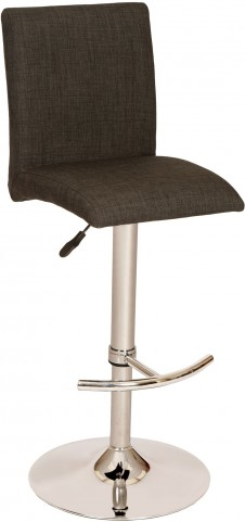 La Jolla Charcoal Fabric Adjustable Swivel Barstool